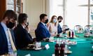 Встреча Юри Ратаса и Урмаса Рейнсалус с премьер-министрами Финляндии и Швеции Санной Марин и Стефаном Лёвеном.