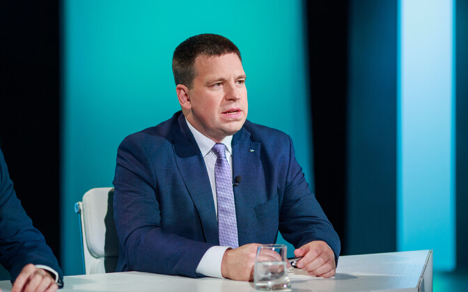 Prime Minister Jüri Ratas (Center)