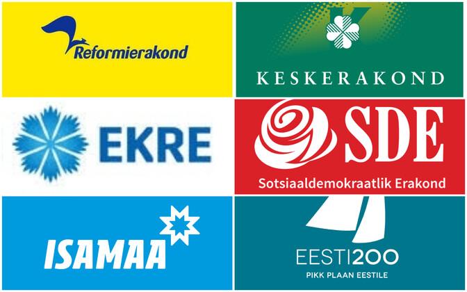 Estonian party logos.