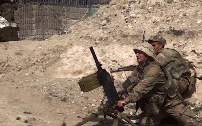 Азербайджанские военные в Нагорном Карабахе.