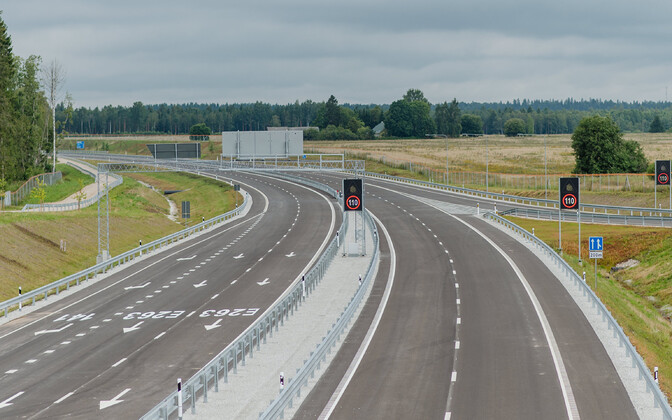 Stretch of highway in northern Estonia.