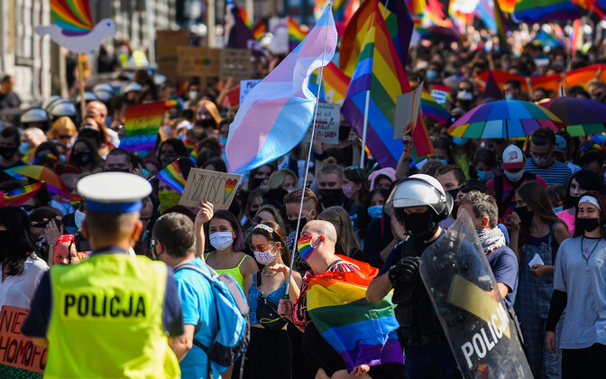 Poola LGBT-õiguslaste meeleavaldus Katowices.