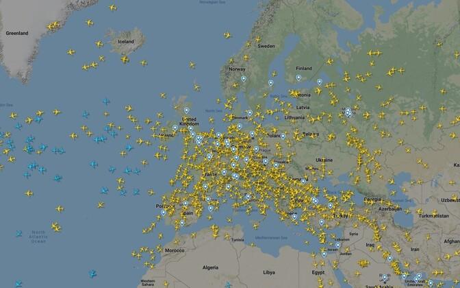 Flightradar24 veebileht.