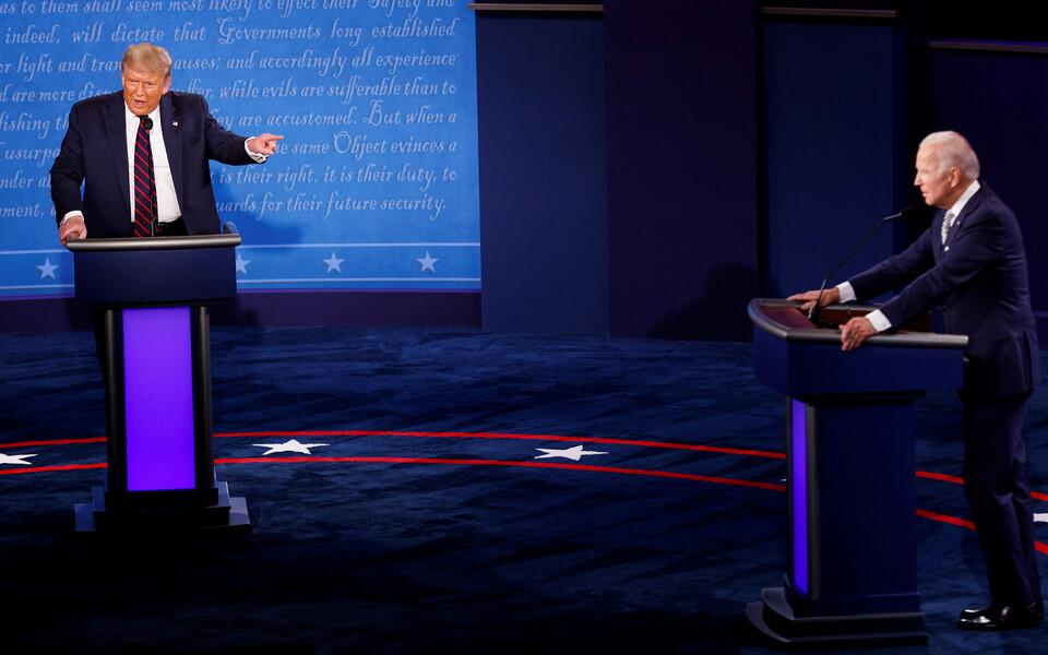 Трамп и Байден на теледебатах не стеснялись в выражениях.
