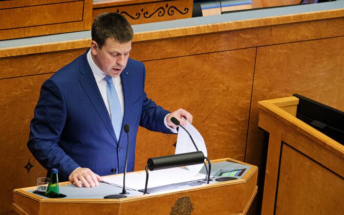 Prime Minister Jüri Ratas in the Riigikougu.