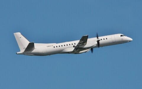 A Saab 2000 turobprop plane in NxyAir service.