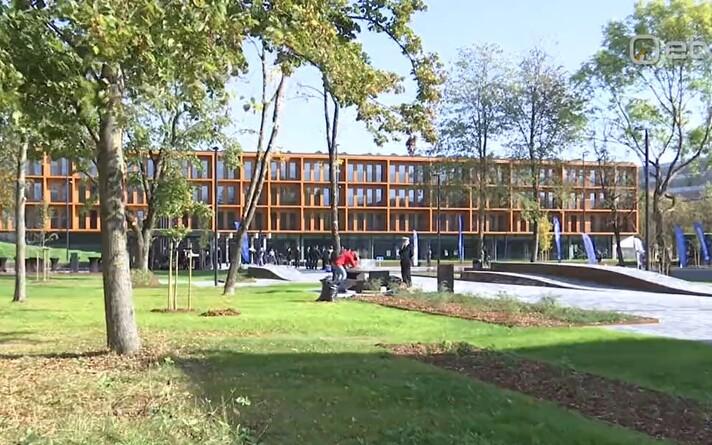 Sisekaitseakadeemia ja Tartu ülikooli ühine õppe- ja majutushoone Narvas.