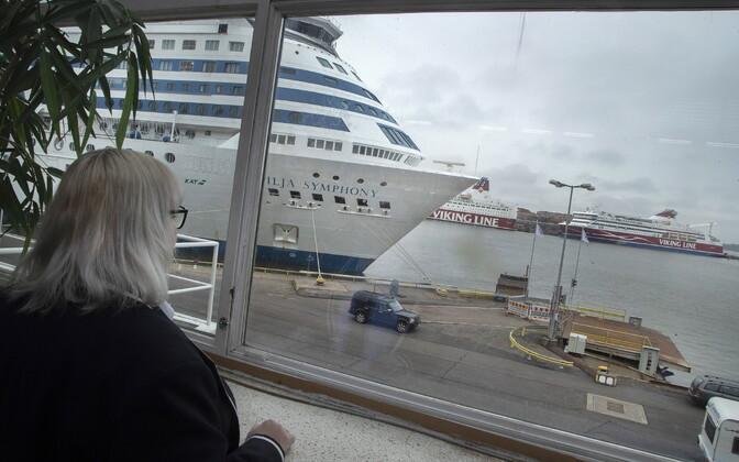 Koroonapiirangute tõttu on Helsingi sadam üsna tühi.