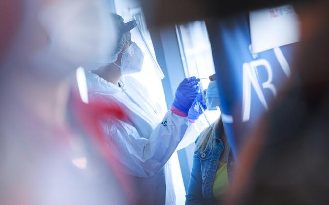 Coronavirus testing.