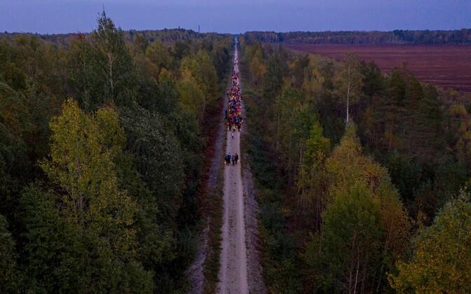 Porikuu festivali avaüritus – Valgusrännak Turbast Ellamaale.