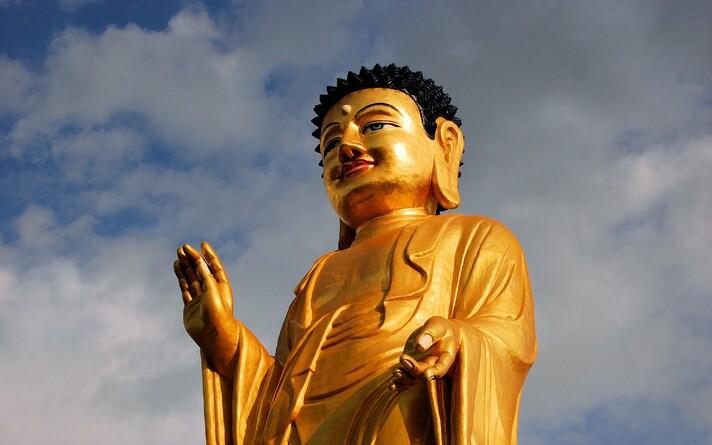 Buddha kuju Ulaanbaataris Mongoolias.