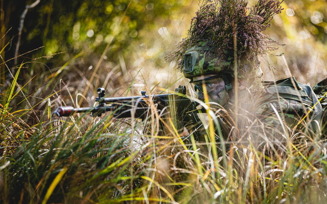 A 1st Infantry Brigade conscript at the Silver Arrow 2020 exercise.
