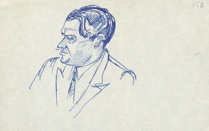 Boriss Jegorovi portree. Juri Lotmani joonistus