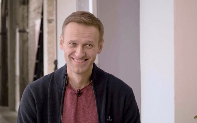 Aleksei Navalnõi intervjuud andmas.