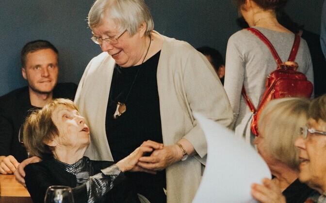 Mari Tarand ja Marju Lauristin viimase raamatuesitluselt