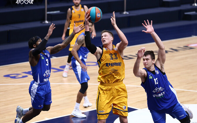 Monday's Kalev/Cramo (in blue) game with Khimki last Monday.