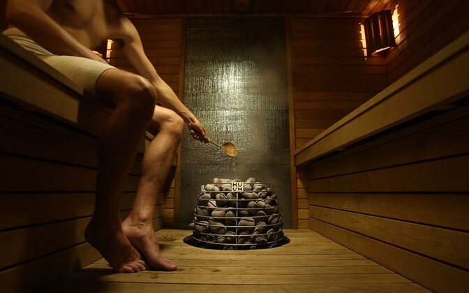 A HUUM stove in use in one of Estonian Saunas' creations.
