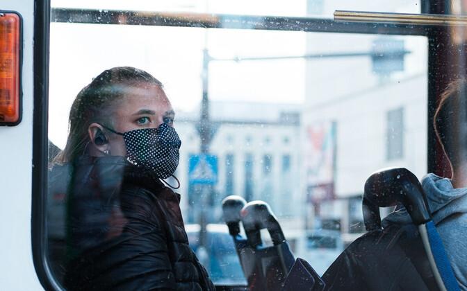 Maskikandja Tallinnas.