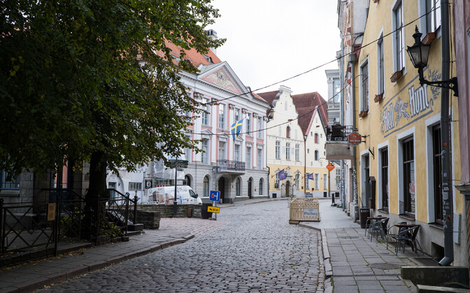 Tallinn Old Town that is usually bustling with tourists has been empty this year.