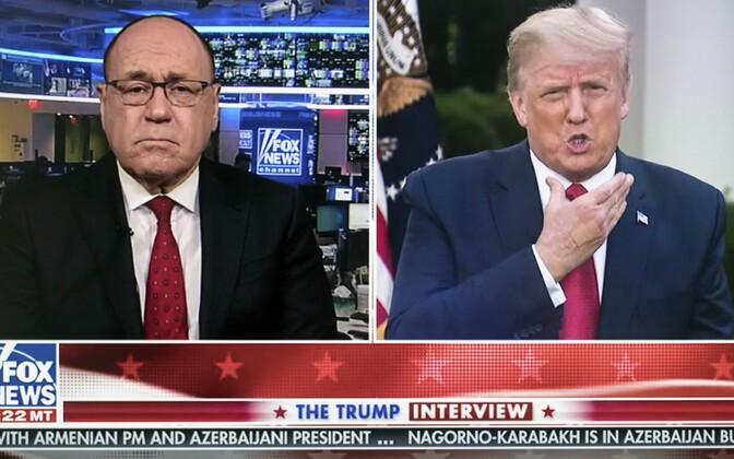President Trump (paremal) Fox Newsile intervjuud andmas.
