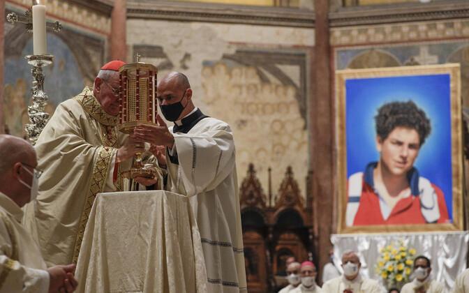 Carlo Acutise õndsaks kuulutamise tseremoonia.