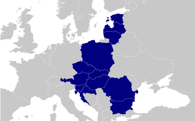 Countries participating in the Three Seas Initiative.