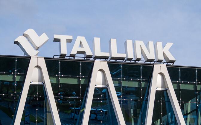 Tallink logo atop its hotel in Tallinn.