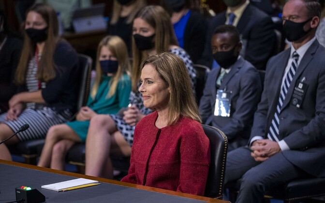 Amy Coney Barrett senati kuulamisel.