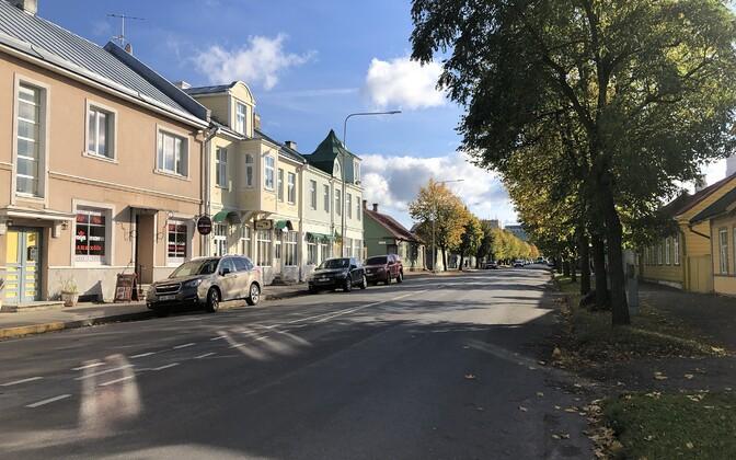 Улица Пости в Хаапсалу.