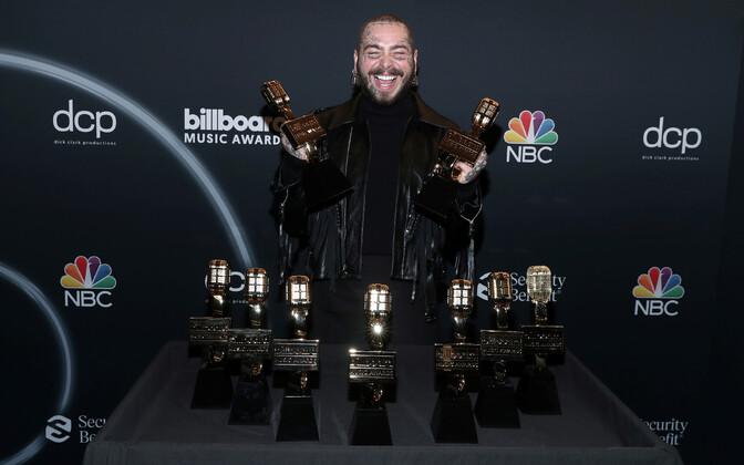 Post Malone läks Billboardi muusikaauhindadelt koju üheksa auhinnaga.