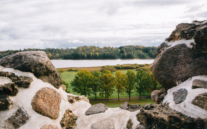 View of Lake Viljandi from the ruins of Viljandi Castle.