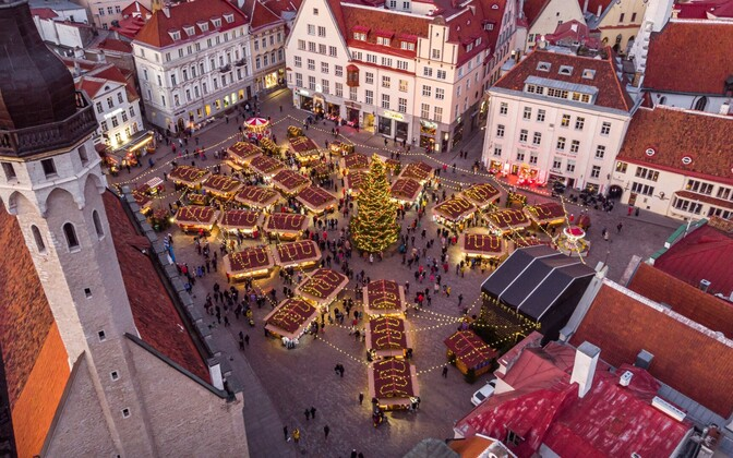 Tallinn's traditional Christmas market in January 2020.