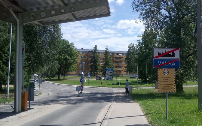 Valga, Estonia-Valka, Latvia border.