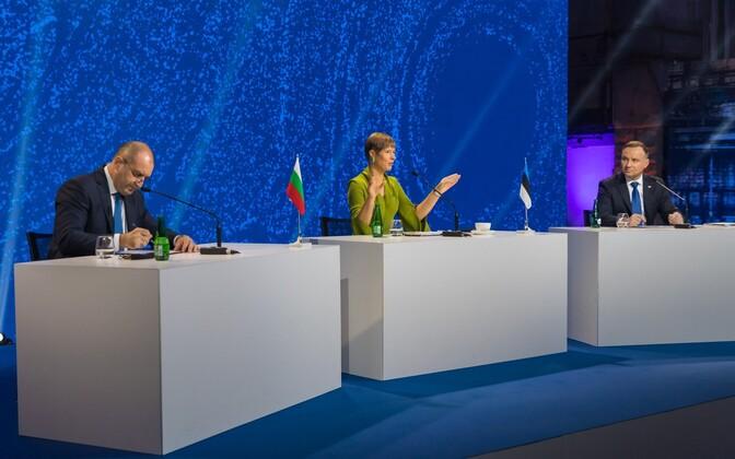 Kolme mere tippkohtumine: Bulgaaria president Rumen Radev, Eesti president Kersti Kaljulaid ja Poola president Andrzej Duda