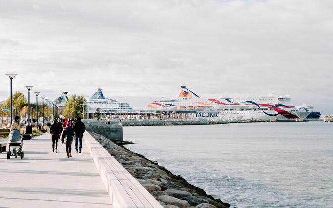 A Tallink ferry at the Port of Tallinn.