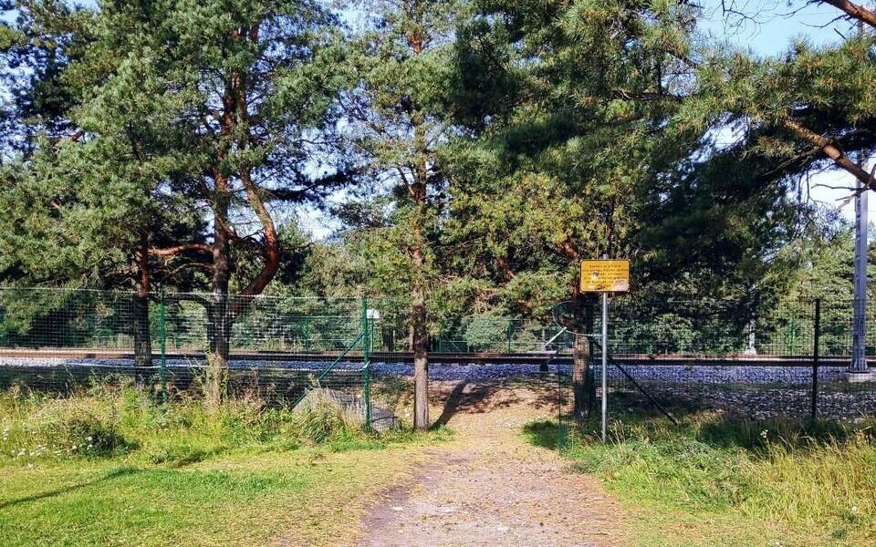 Железнодорожный переход в Ярве.
