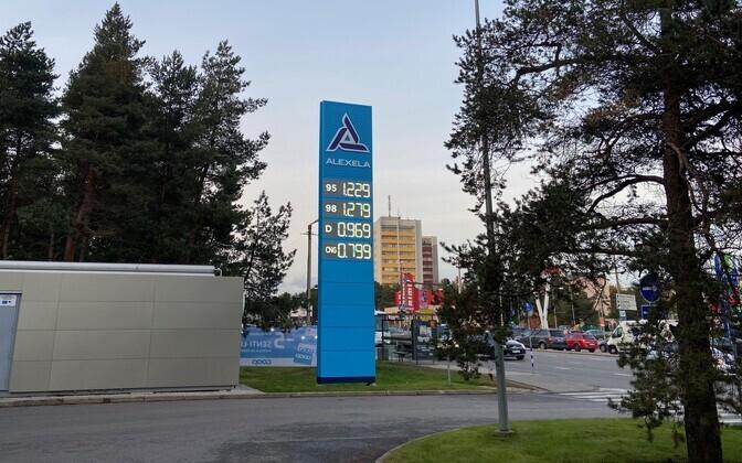 Kütusehind Alexela tanklas.