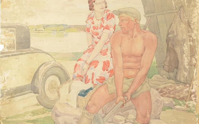 August Roosilehe maal
