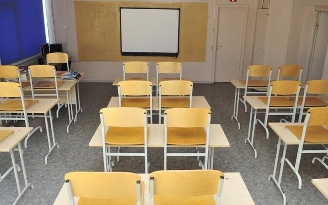 An empty classroom in Estonia (picture is illustrative).