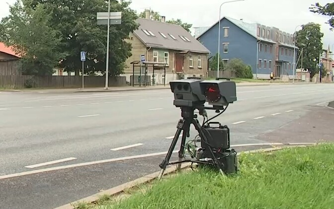 A mobile speed camera.