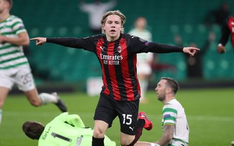 21-aastane norralane Jens Petter Hauge lõi AC Milani eest oma esimese värava