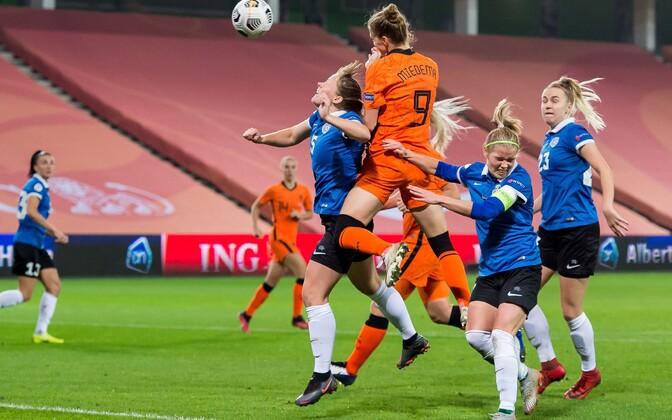 Naiste jalgpalli EM-valikturniir: Holland - Eesti
