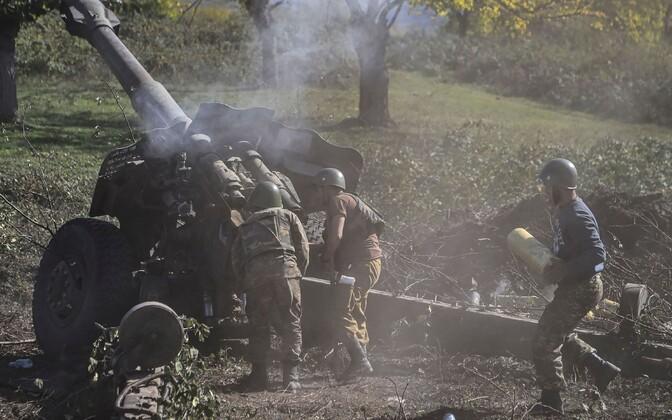 Armeenia sõdurid rindel.