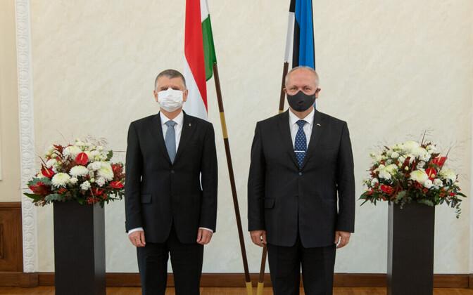 Председатели парламента Венгрии Ласло Кёвер и спикер Рийгикогу Хенн Пыллуаас.