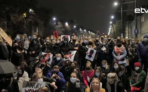 Протесты в Польше.