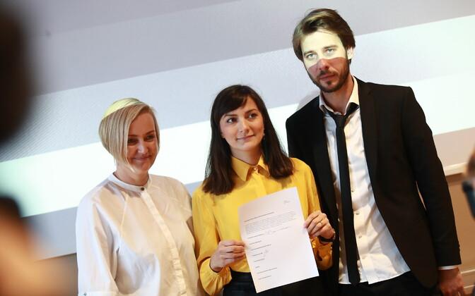 Kristina Kallas, Züleyxa Izmailova and Kaspar Kurve.