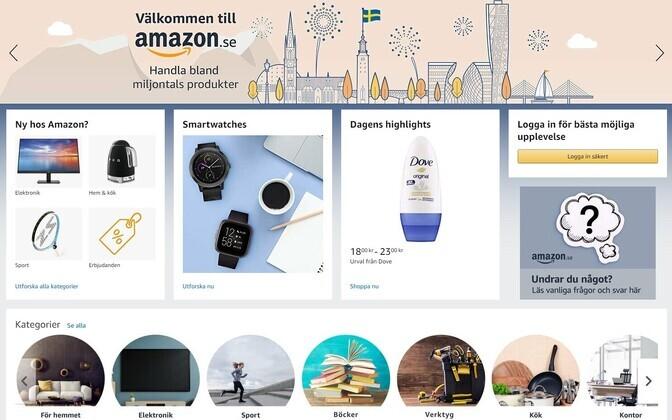 Amazoni Rootsi veebileht.