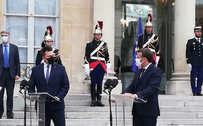 Jüri Ratas visiidil Prantsusmaale, kus kohtus ka president Emmanuel Macroniga.