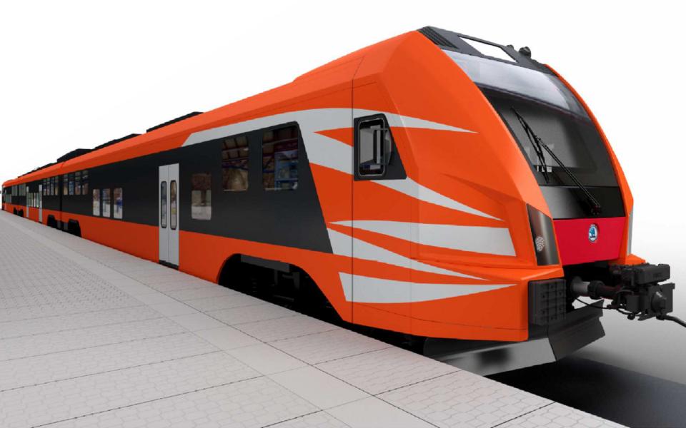 Поезд Škoda. Иллюстративная фотография.