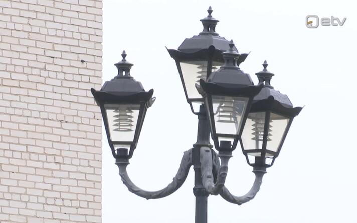 В Выру полностью заменили старые лампы.